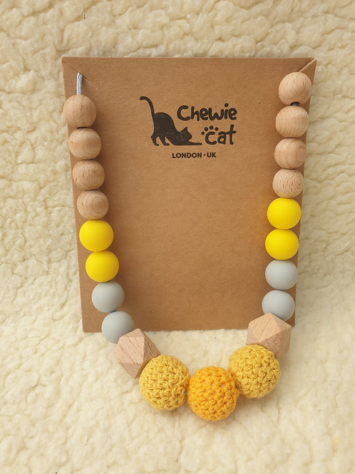 Yellow teether necklace