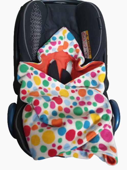 multi coloured polka dot orange inner