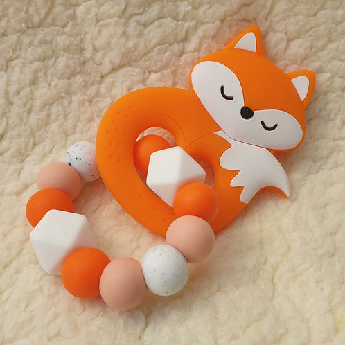 Fox handheld teether