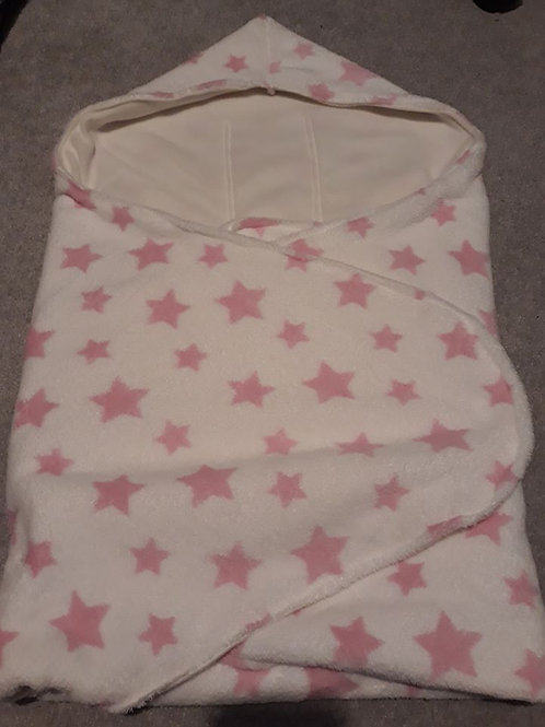 white with pink stars