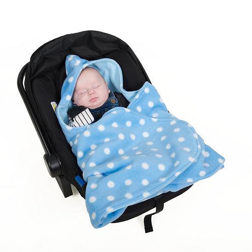 Baby blue polka blue inner