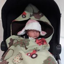 customised cosy car seat blanket