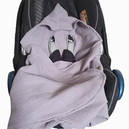 Double gauze summer cosy car seat blanket