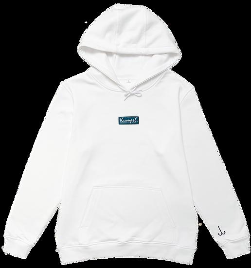 Kumpel Hoodie - Bio Boxed Logo Weiß (Unisex)