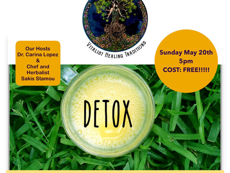 Come Detox With Us MAY 20th 2018!!!