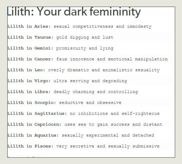 Lilith and Sex - Dark Moon