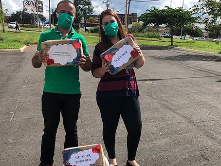 Lar Bezerra de Menezes recebe doações de grupo de concursados da SES-DF