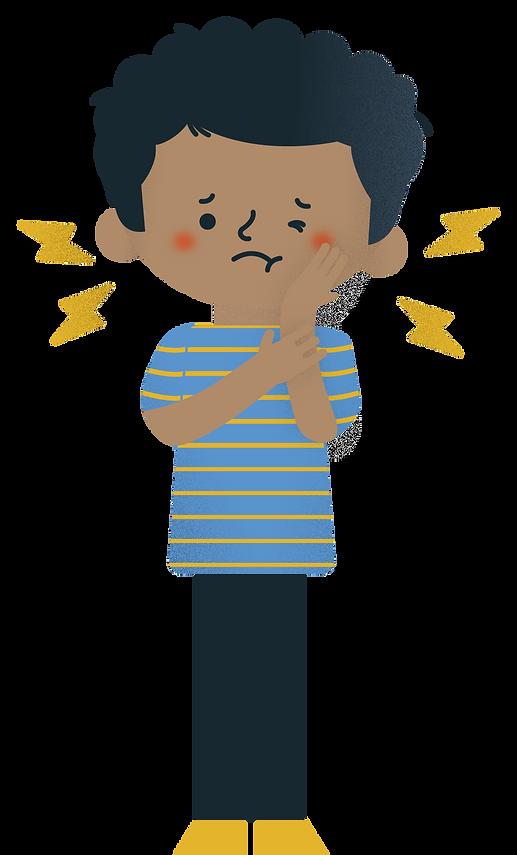 Criançor dor de dente