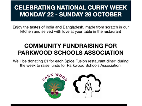 NATIONAL CURRY WEEK FUNDRAISING