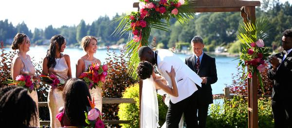 Tropical Country Club Wedding