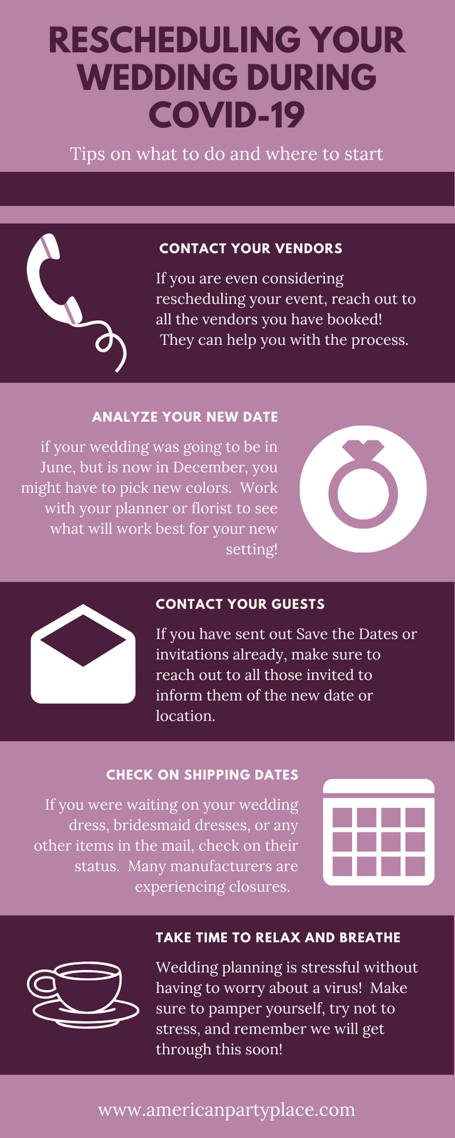 Tips for Rescheduling your Wedding due to COVID-19