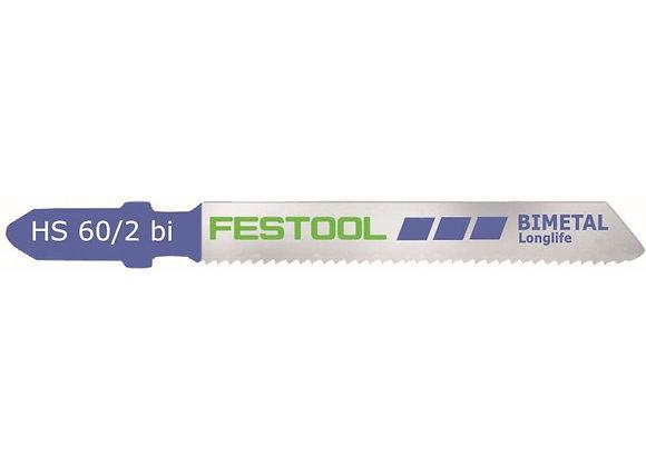Festool HS60/2bi Metal-Cutting Jigsaw Blades, 2 3/8 Inch, 13 TPI, 5-Pack