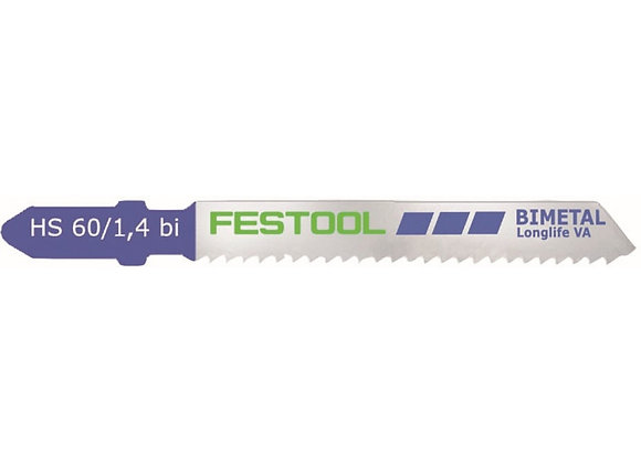 Festool Hs60/1.4bi Va Stainless Steel-Cutting Jigsaw Blades, 2 3/8 Inch,
