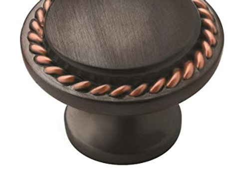 ROPE KNOB OIL BRUSHED BRONZE