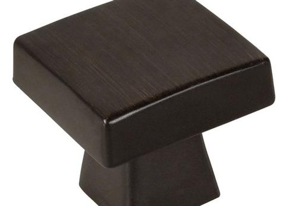 SQUARE KNOB OIL RUBBED BRONZE