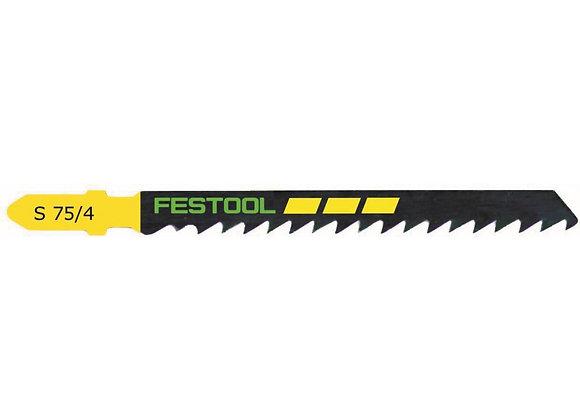 Festool S75/4 Clean-Cut Jigsaw Blades, 3 Inch, 6 TPI, 5-Pack