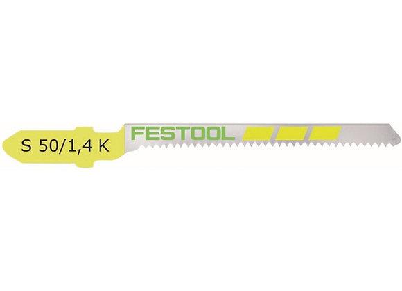 Festool S50/1.4k Scroll-Cut Jigsaw Blades, 2 Inch, 18 Tpi, 5-Pack