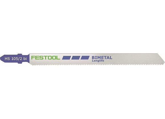 Festool HS105/2bi Metal-Cutting Jigsaw Blades,, 4 1/8 Inch, 13 TPI, 5-Pac