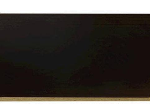 1/4x4x8 BLACK MELAMINE 2F
