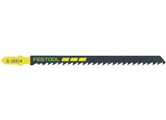 Festool S 105/4 Fast-Cutting Jigsaw Blades, 4 1/8 Inch, 6 TPI, 5-Pack