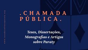 Chamada: Teses, Dissertações, Monografias e Artigos sobre Paraty