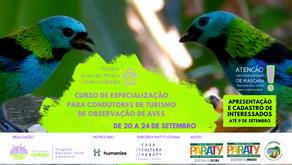 Inscrições abertas: Curso de Especialização para Condutores de Turismo de Observação de Aves