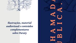 Chamada: ilustrações, material audiovisual e conteúdos complementares sobre Paraty