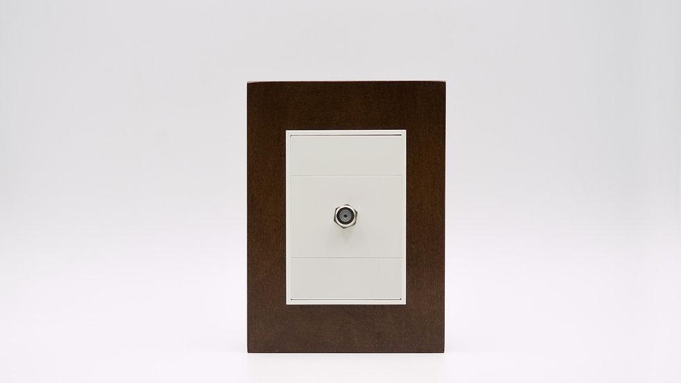 Placa Linea Bauhaus Madera Nogal