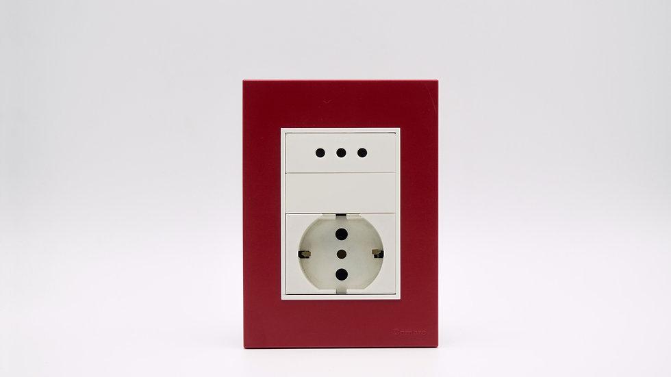 Placa Linea Bauhaus Rojo