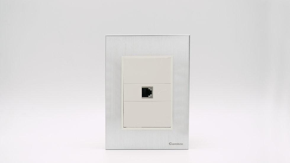 Placa Linea Bauhaus Aluminio Puro