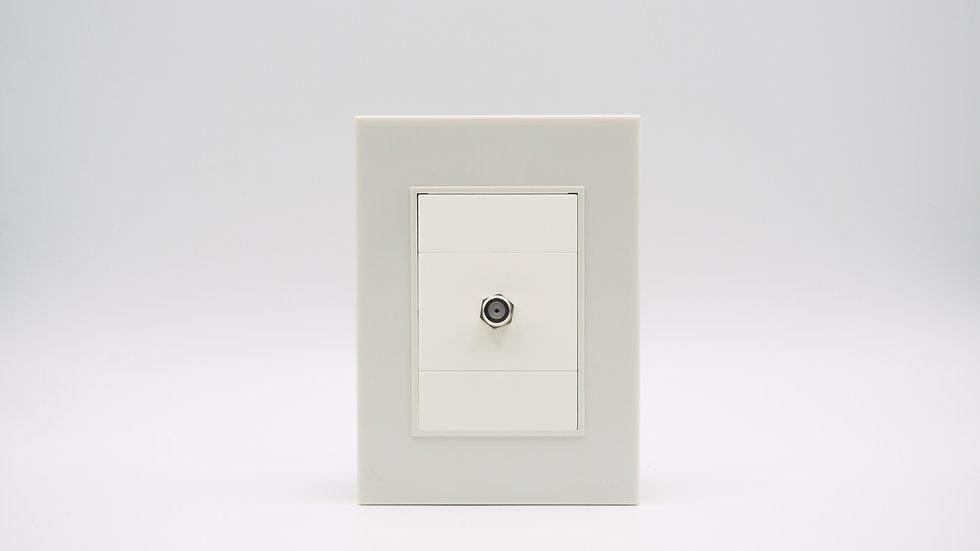 Placa Linea Bauhaus Blanca