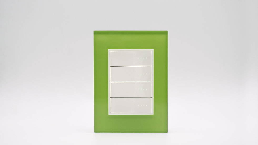 Placa Linea Bauhaus Vidrio Verde