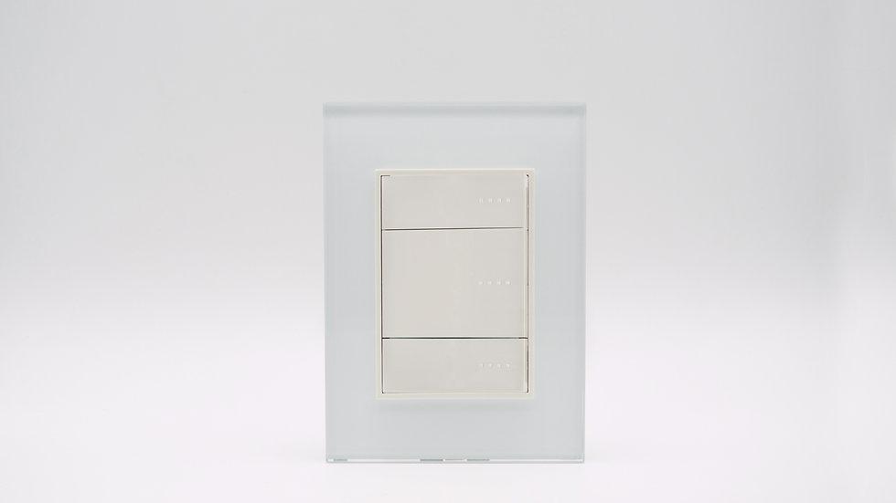 Placa Linea Bauhaus Vidrio Blanco