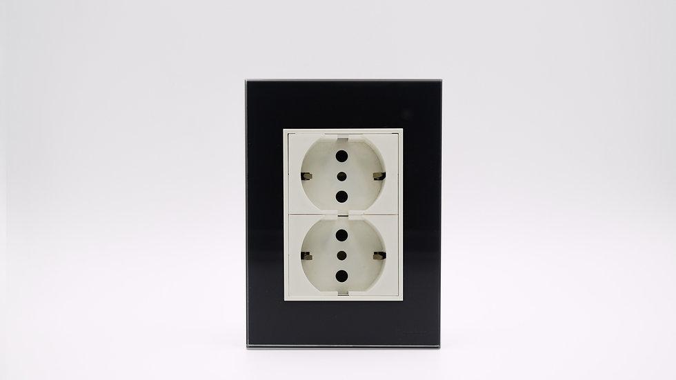 Placa Linea Bauhaus Vidrio Negro