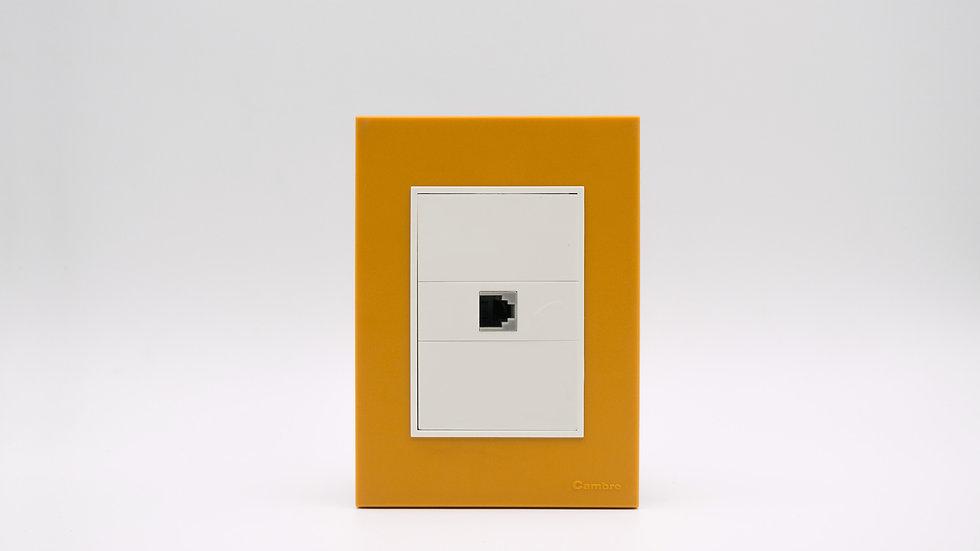 Placa Linea Bauhaus Amarillo