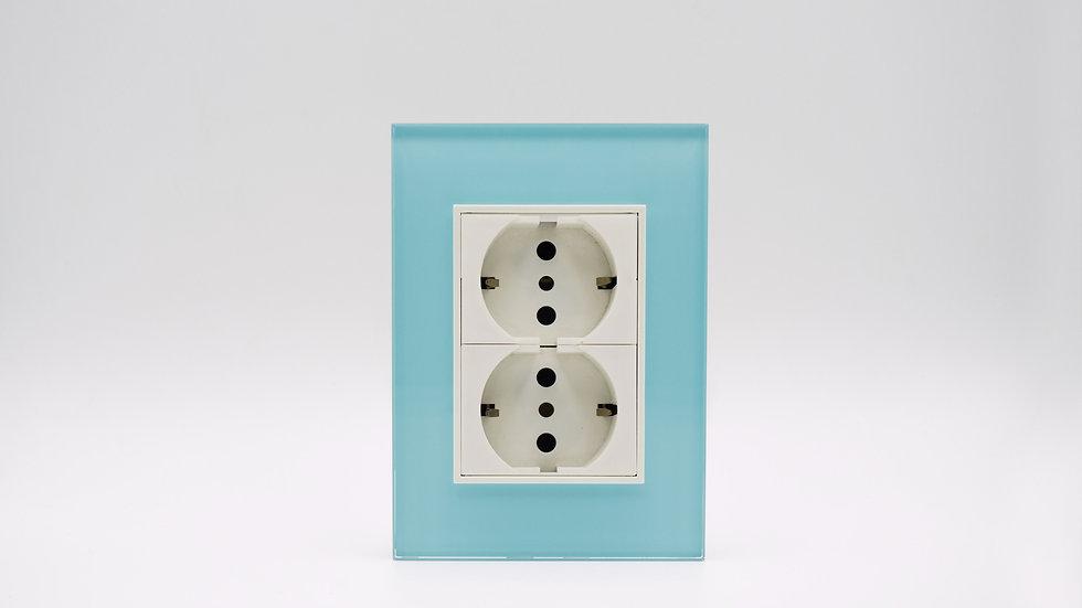 Placa Linea Bauhaus Vidrio Celeste