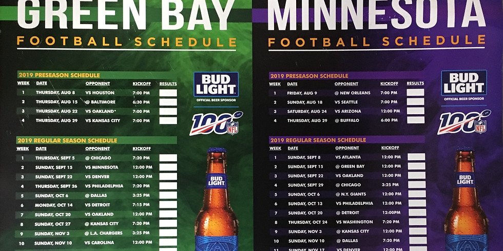 Football Schedule is ON!