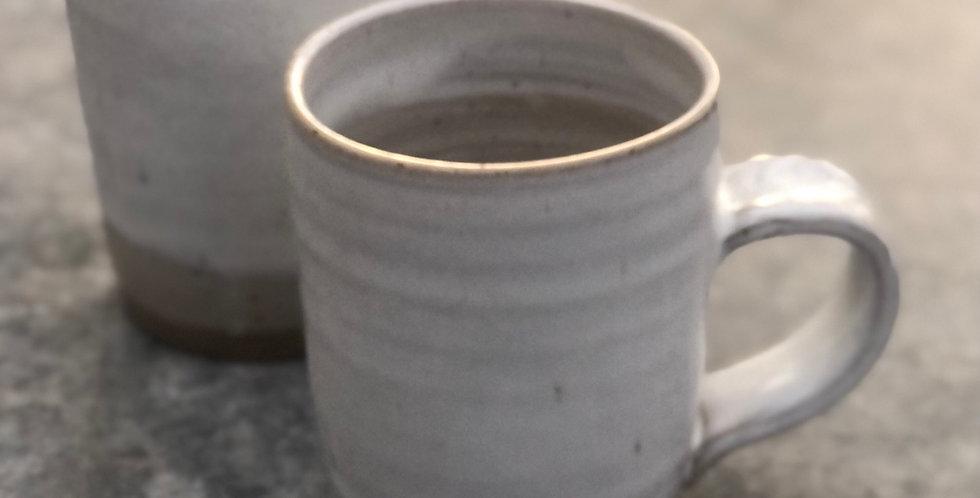 Oversized Pottery Mug, White