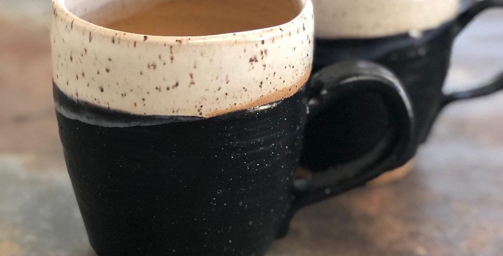 Oversized Pottery Mug, Black & White