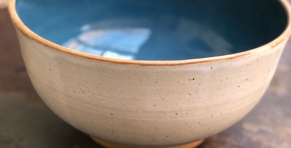 Large Signature Pottery Serving Bowl