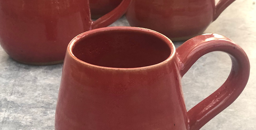Pottery Mugs, Ruth Red