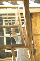 New windows being installed by a professional