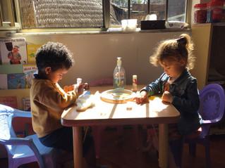 Preschoolers after Christmas break