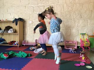 Dancing ballerinas in preschool