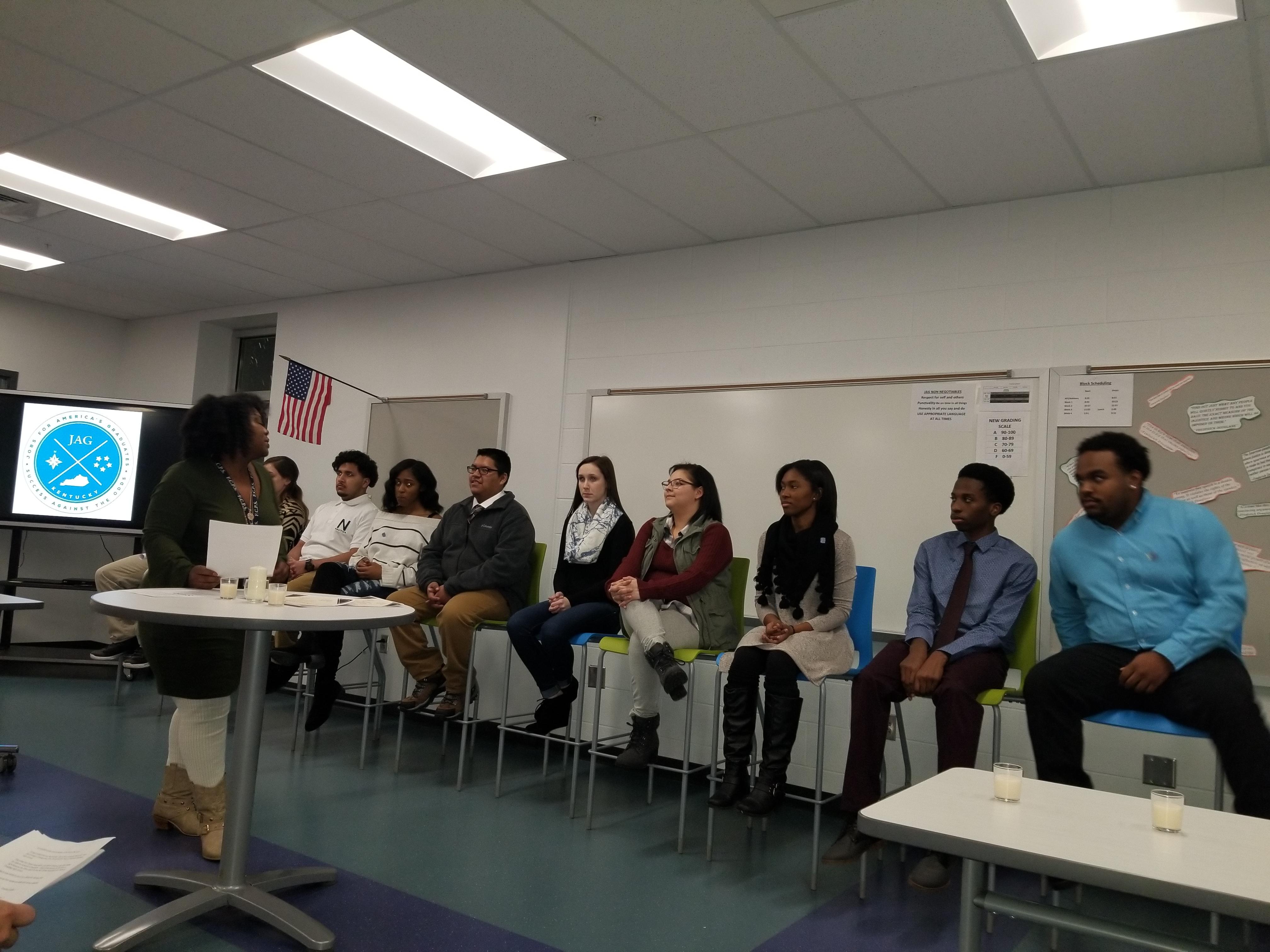 JAG KY Specialist Laranda Smith Opens Frederick Douglas I&I Ceremony