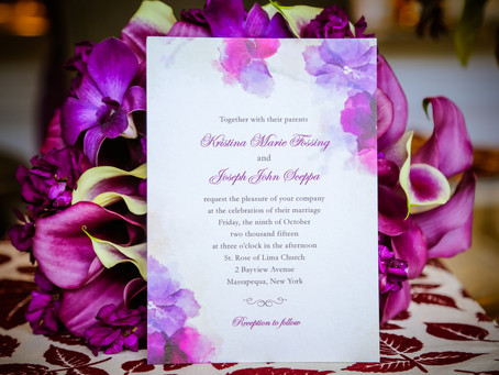 The Perfect Purple And Silver Wedding