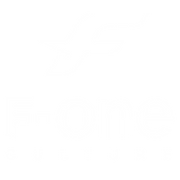 F-ONE block mark & signature vert wh S.p