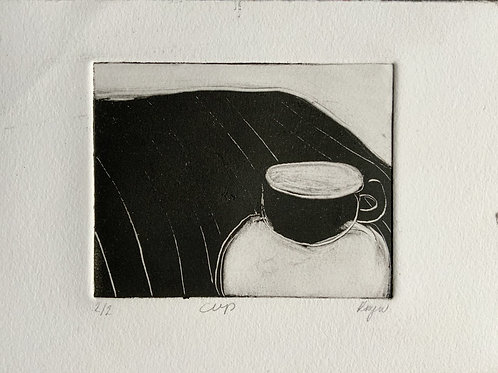 'Cup' Monoprint on paper