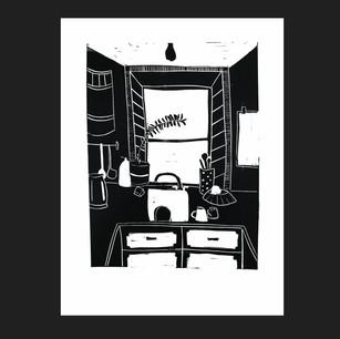 Linocut on paper 2020