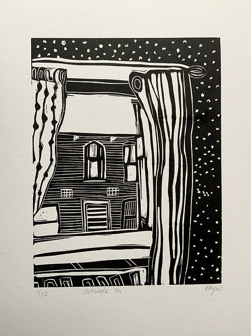 'Outside in' Limited Edition Linocut on Paper